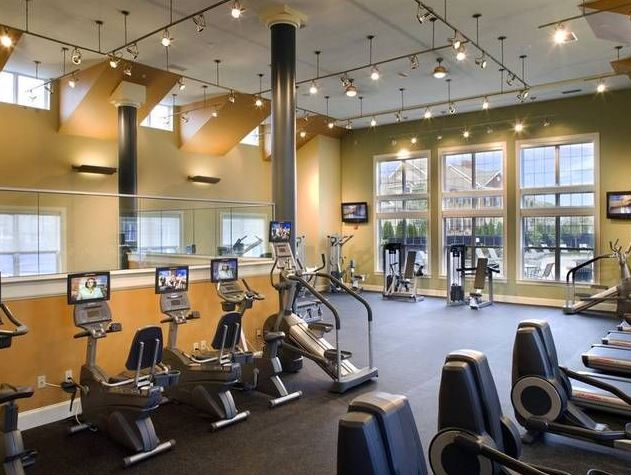 Gym at Avalon Residences at the Hingham Shipyard
