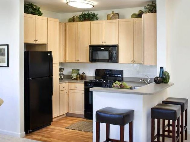 Kitchen at Avalon Residences at the Hingham Shipyard