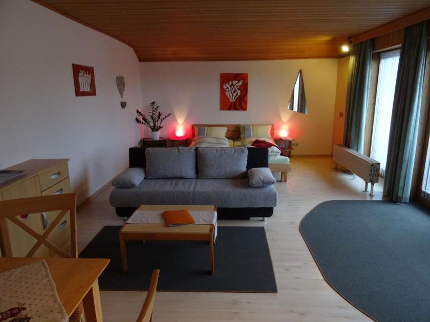 Living room at Marktoberdorf Apartment