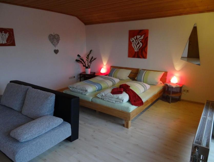 Bedroom at Marktoberdorf Apartment