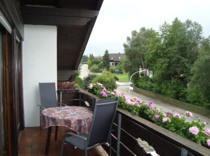 Balcony at Marktoberdorf Apartment