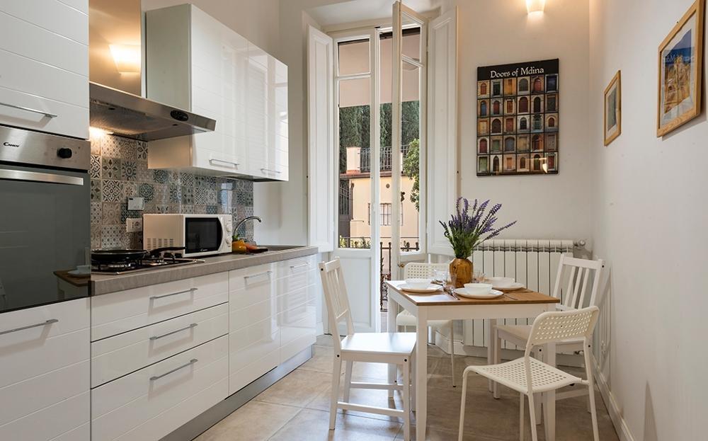 Kitchen at Fiordaliso Apartment