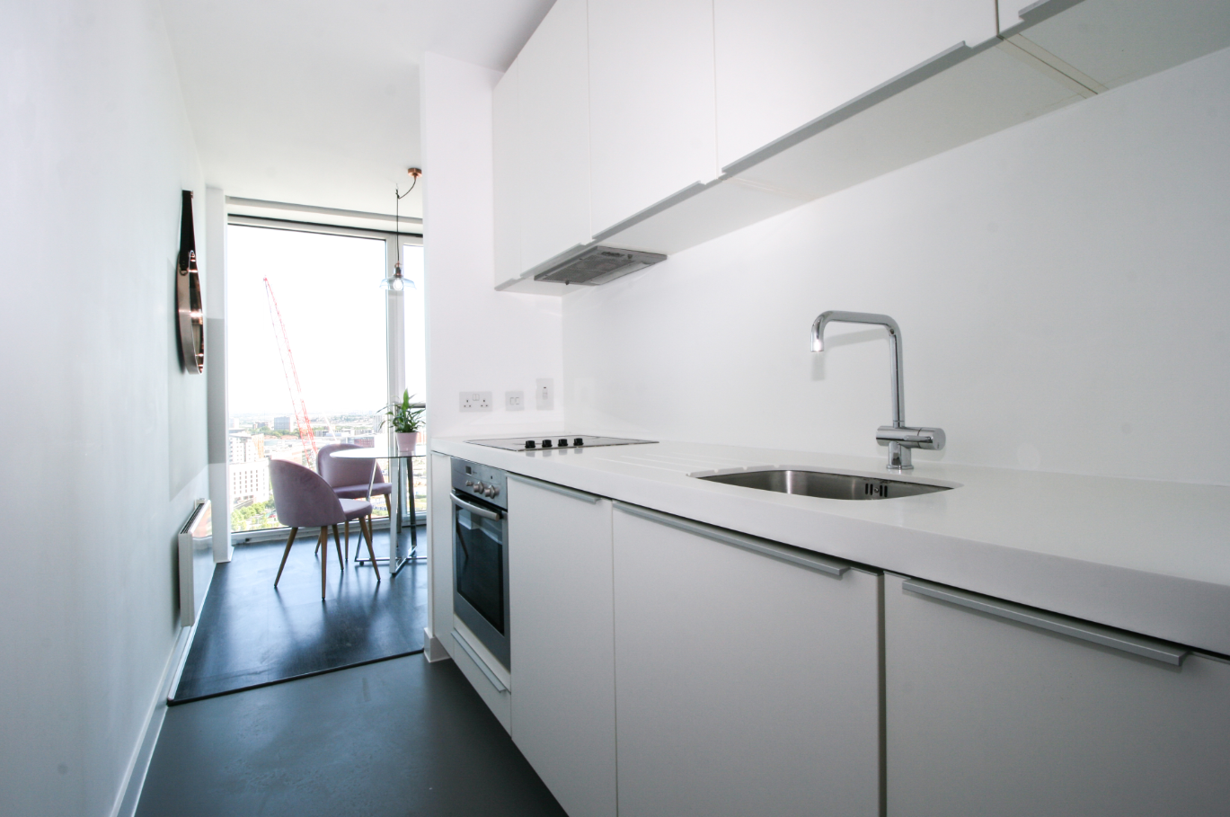 Kitchen at The Rotunda Serviced Apartment