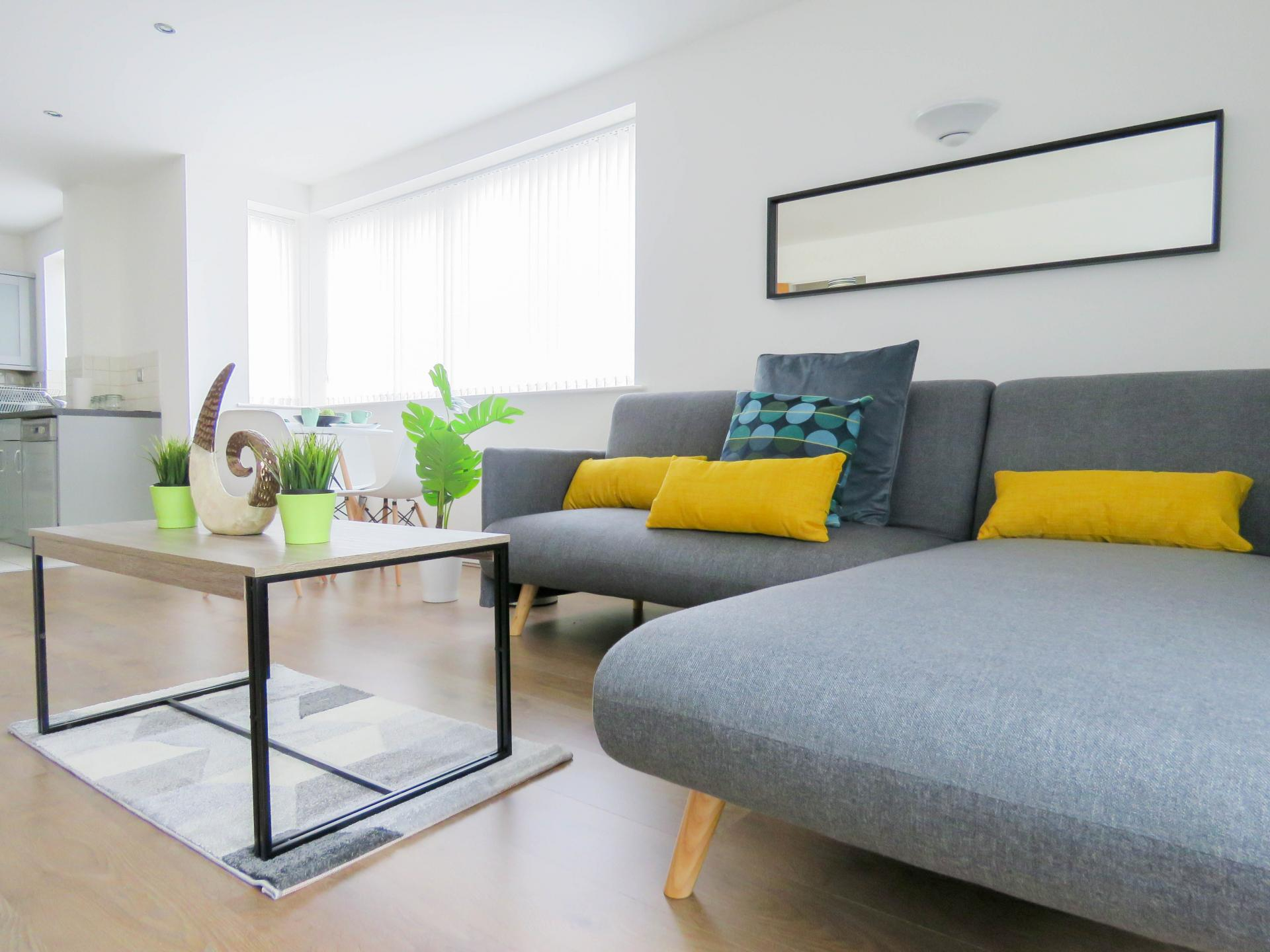 Living area at ICC and Canal Side Serviced Apartment