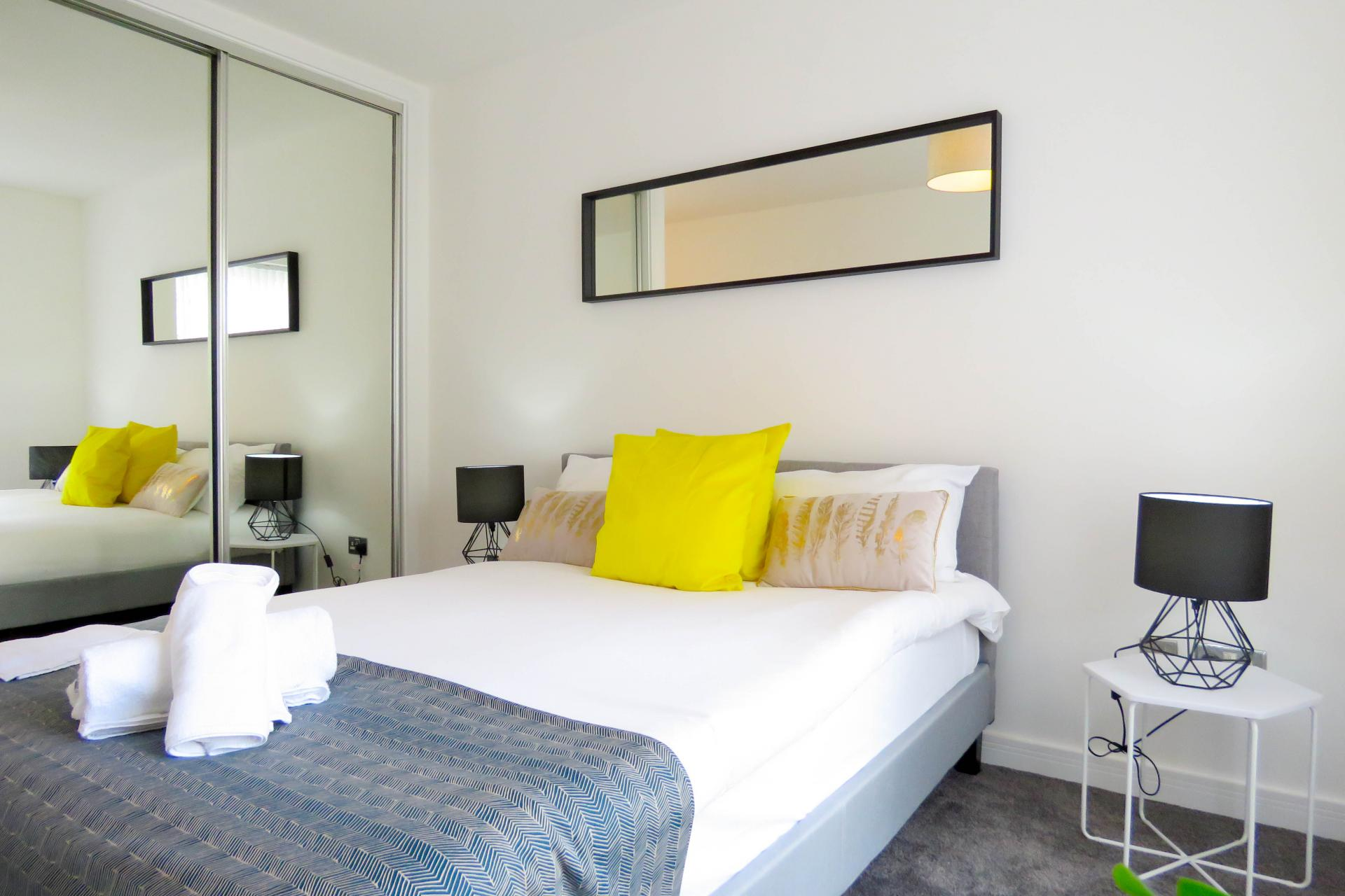 Bedroom at ICC and Canal Side Serviced Apartment