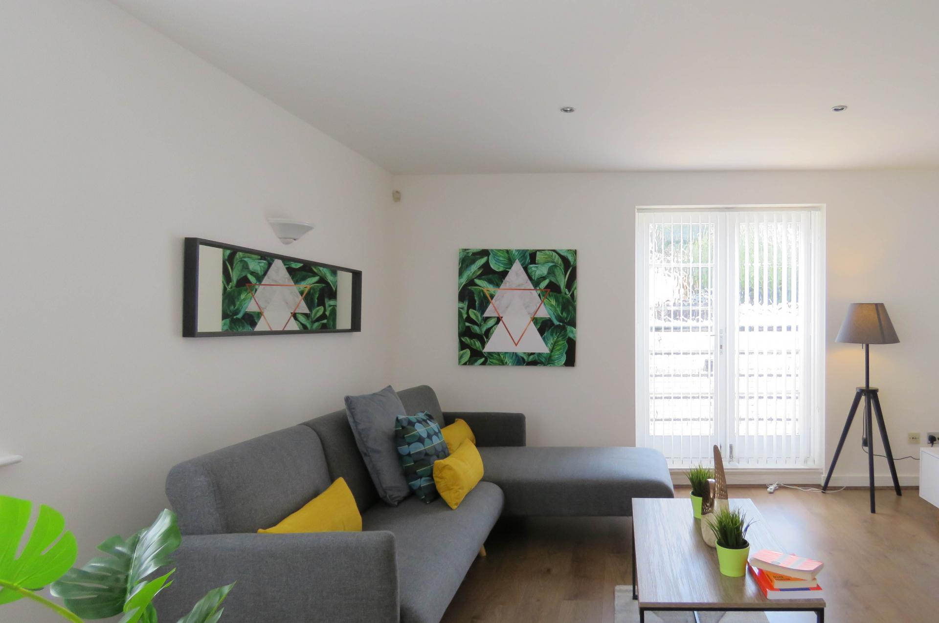Sofa at ICC and Canal Side Serviced Apartment