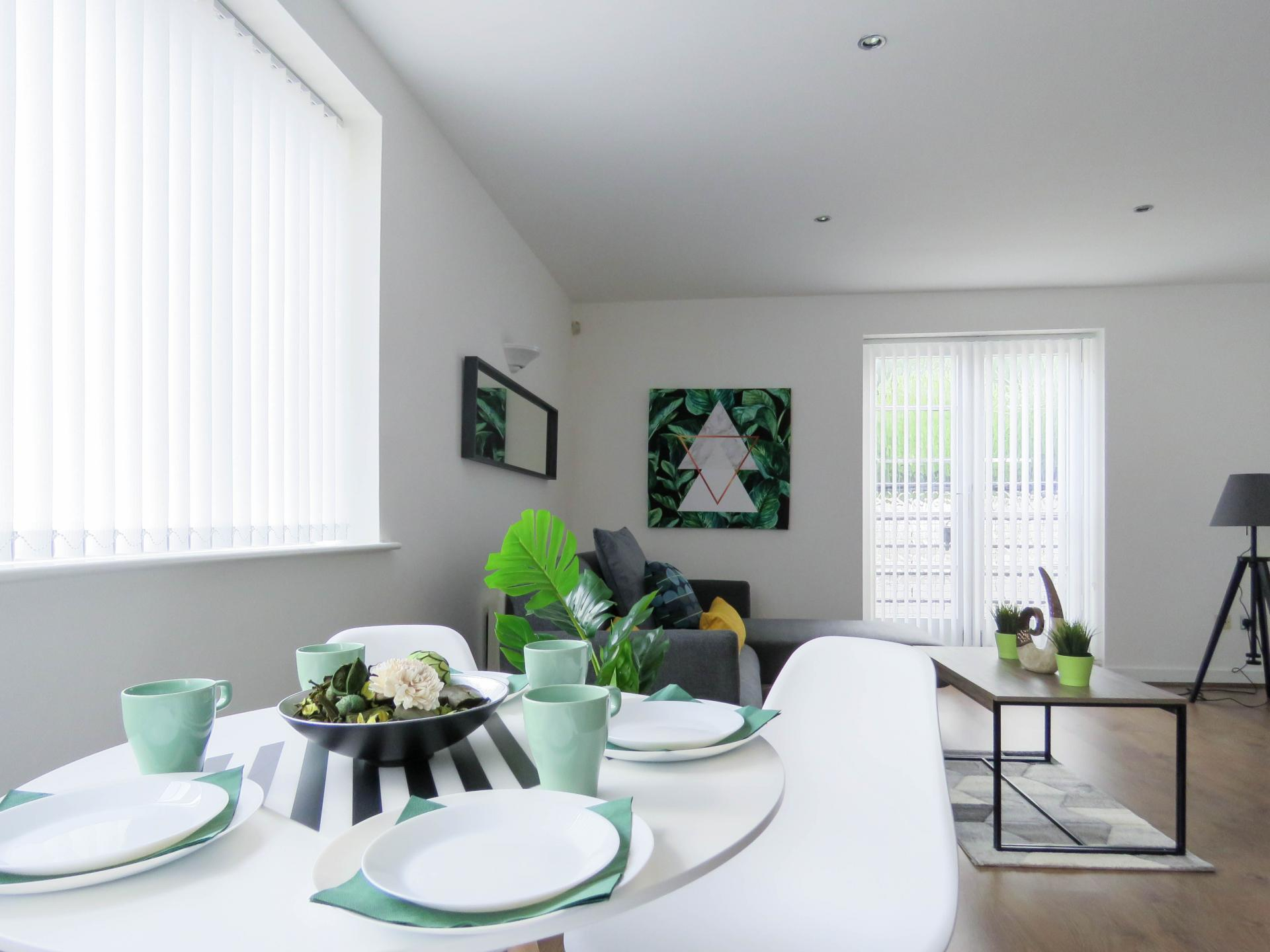 Dining table at ICC and Canal Side Serviced Apartment