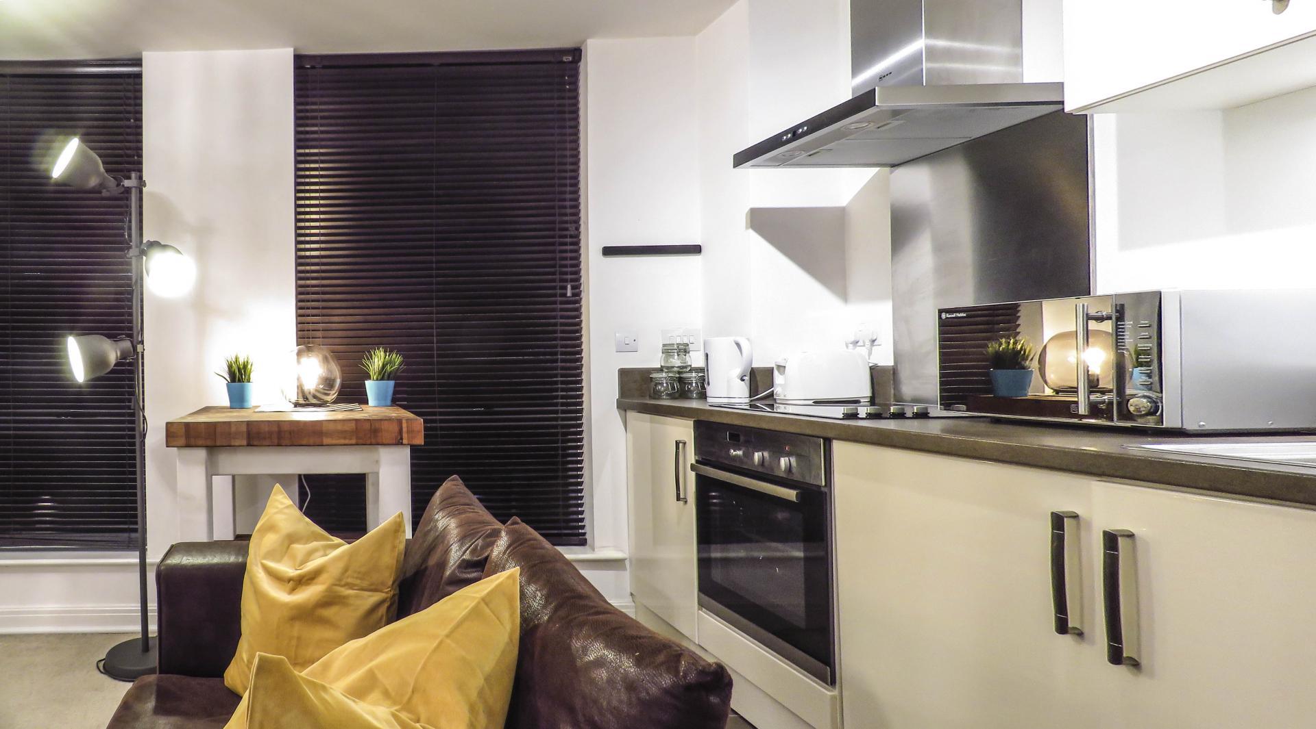 Kitchen at Lion Court Serviced Apartment