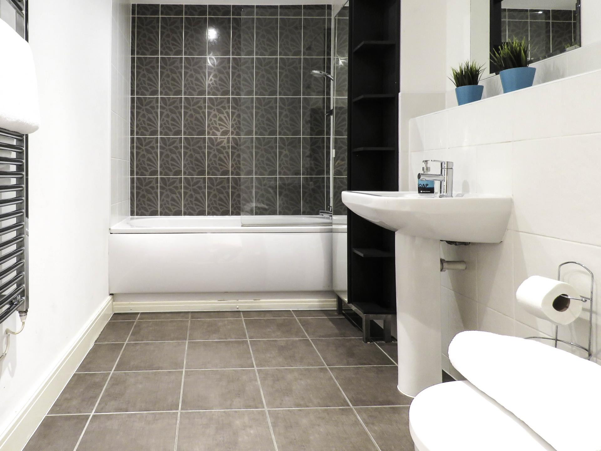Bathroom at Lion Court Serviced Apartment