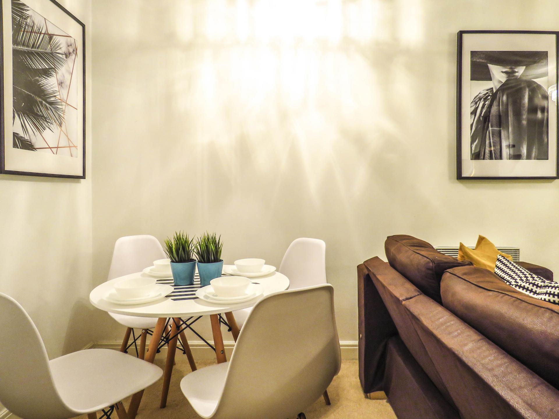 Dining area at Lion Court Serviced Apartment
