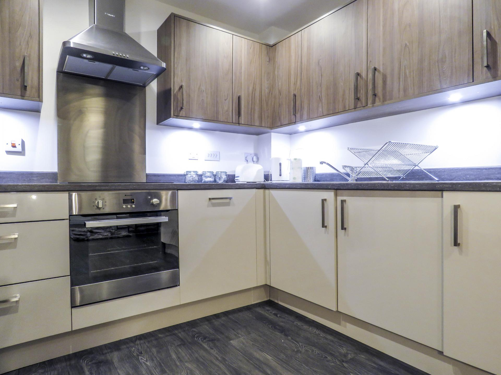 Kitchen at Warstone Lane Serviced Apartment