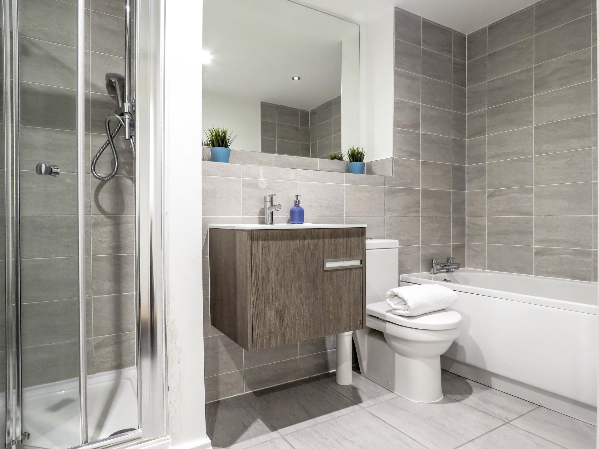 Bathroom at Warstone Lane Serviced Apartment