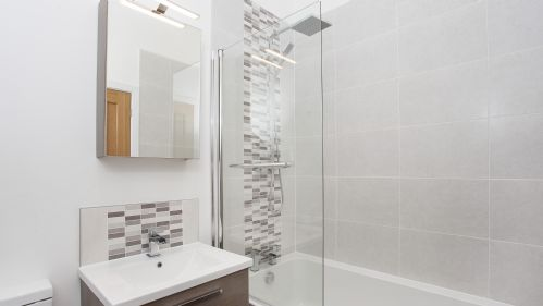 Bathroom at White House Apartments