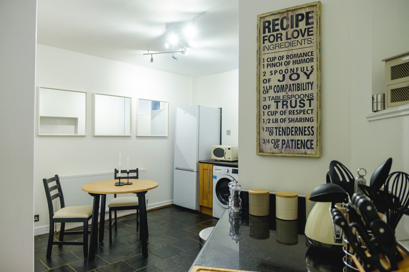 Kitchen and dining area at St John's Cottage