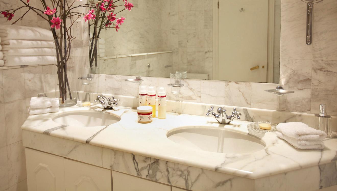 Bathroom at Europa House Apartments