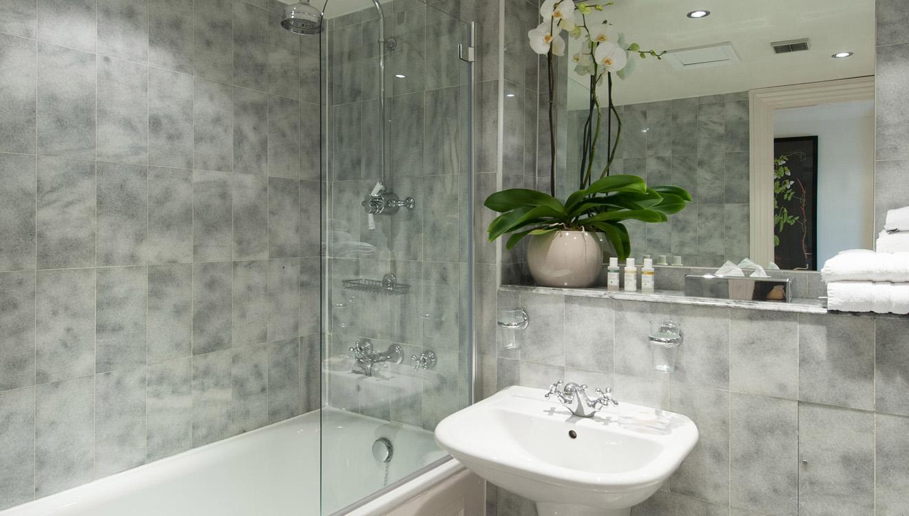 Bath at Europa House Apartments
