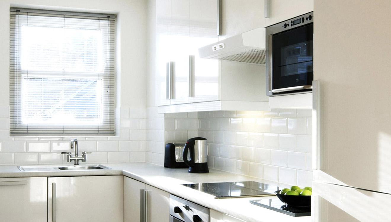 Kitchen at Europa House Apartments