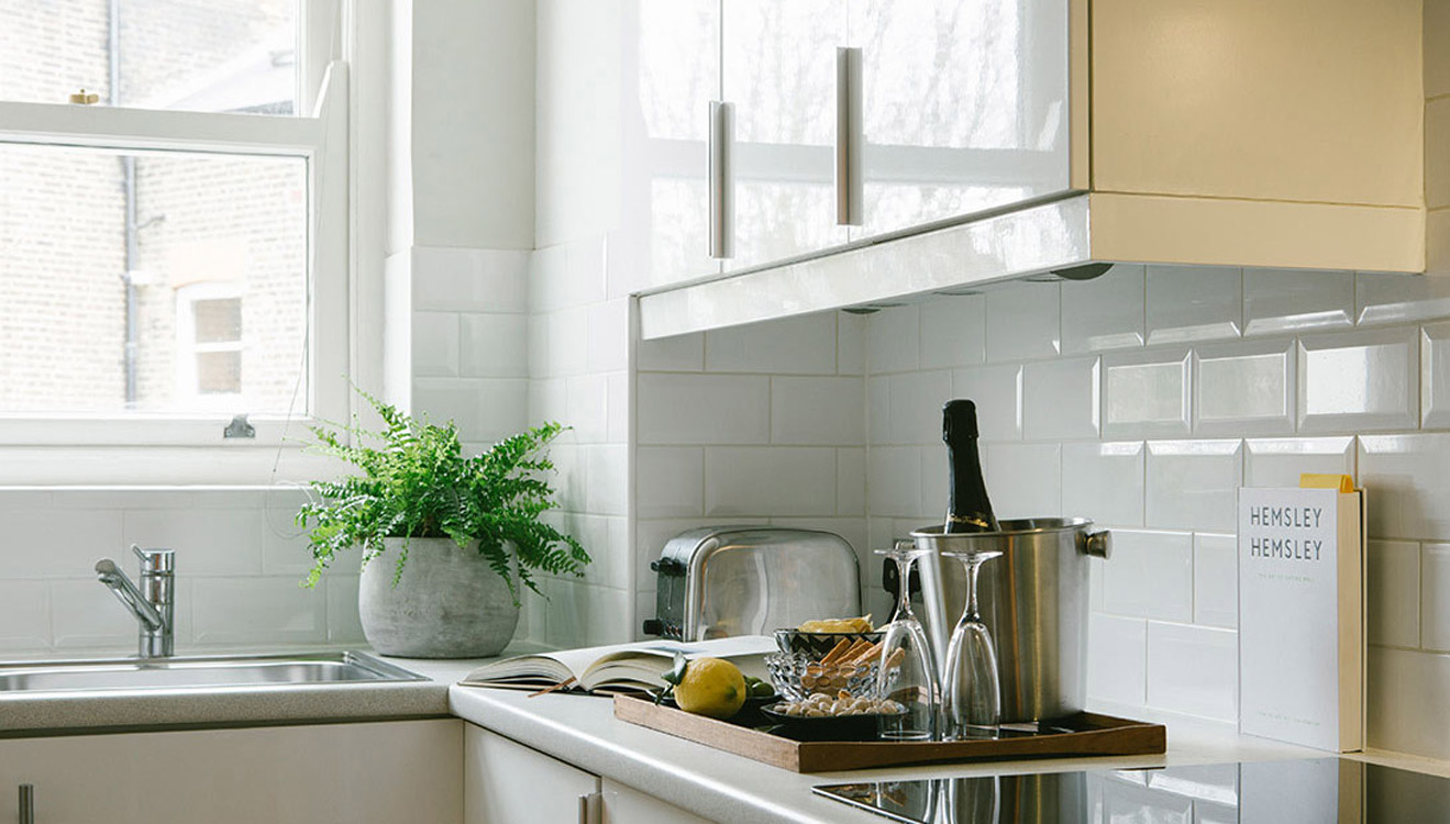 Kitchen details at Europa House Apartments