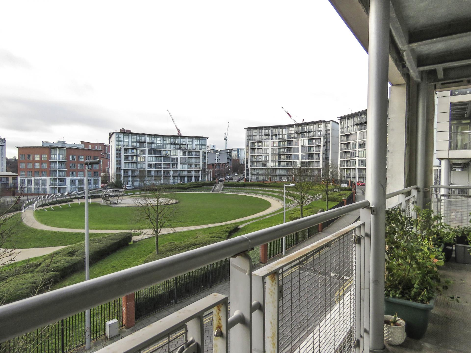 Balcony at Park Central Serviced Apartment, Westside, Birmingham