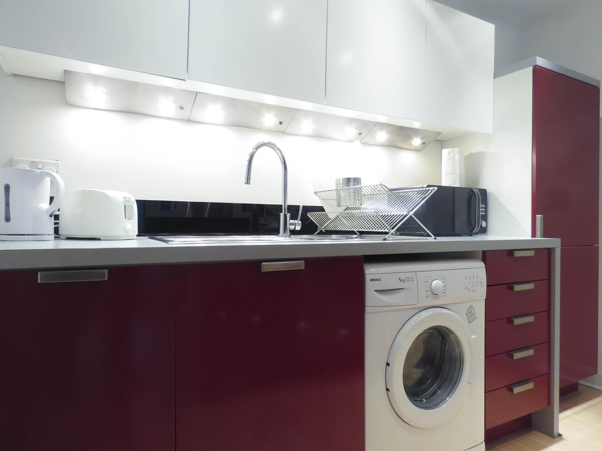 Kitchen at Southside Serviced Apartment