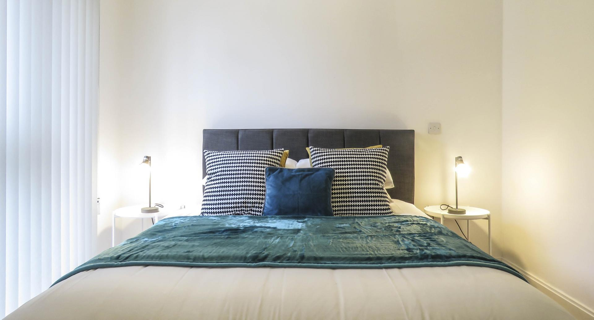 Double bed at Southside Serviced Apartment