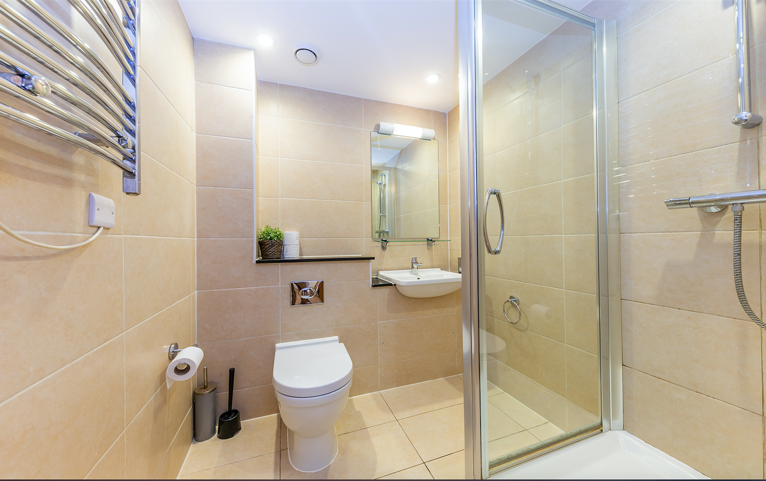 Shower at Redan Place Apartments