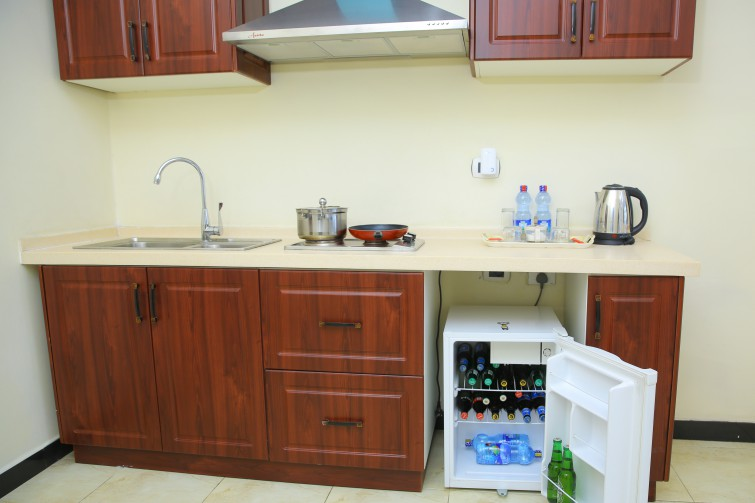 Kitchen at Impress Hotel Apartments