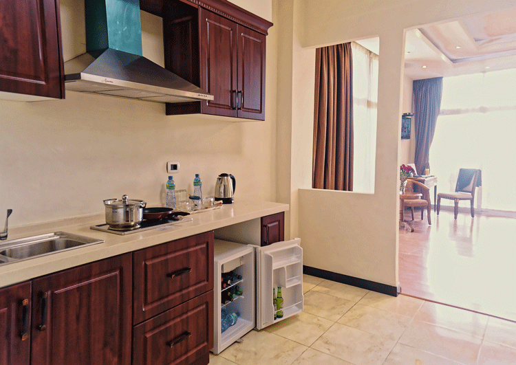 Kitchenette at Impress Hotel Apartments