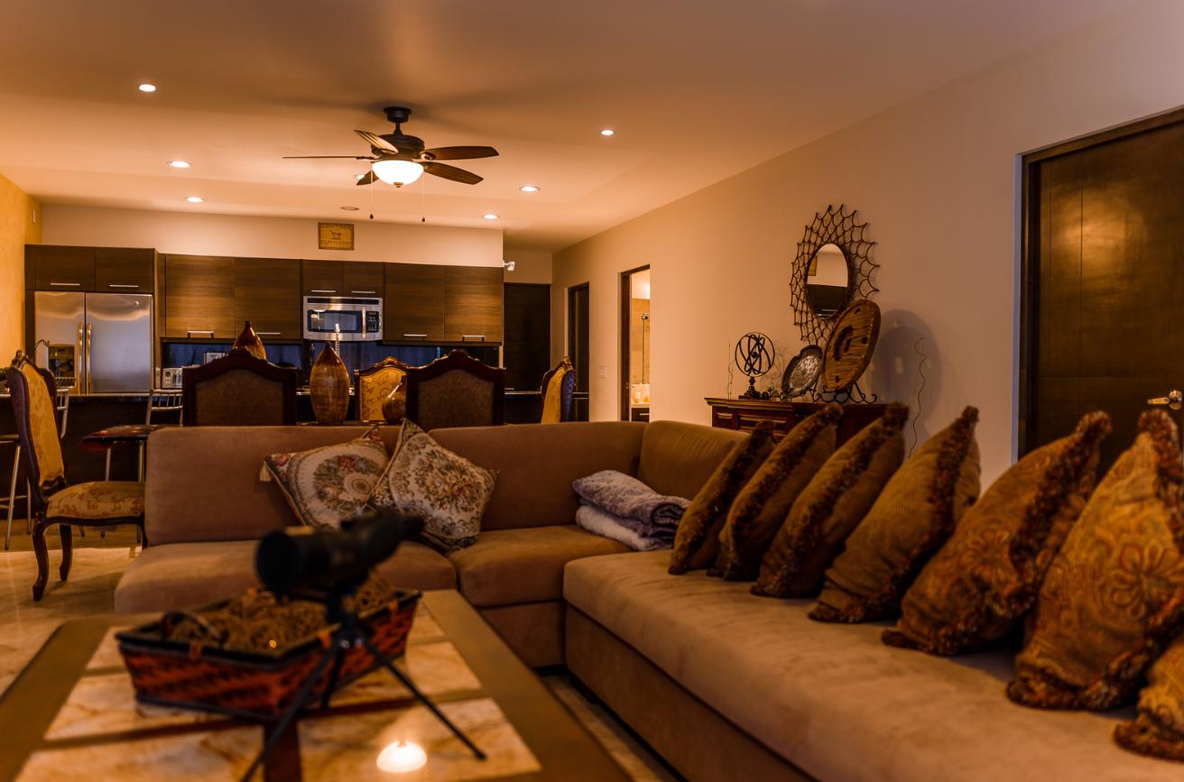Kitchen area at Cascadas De Pedregal Apartment