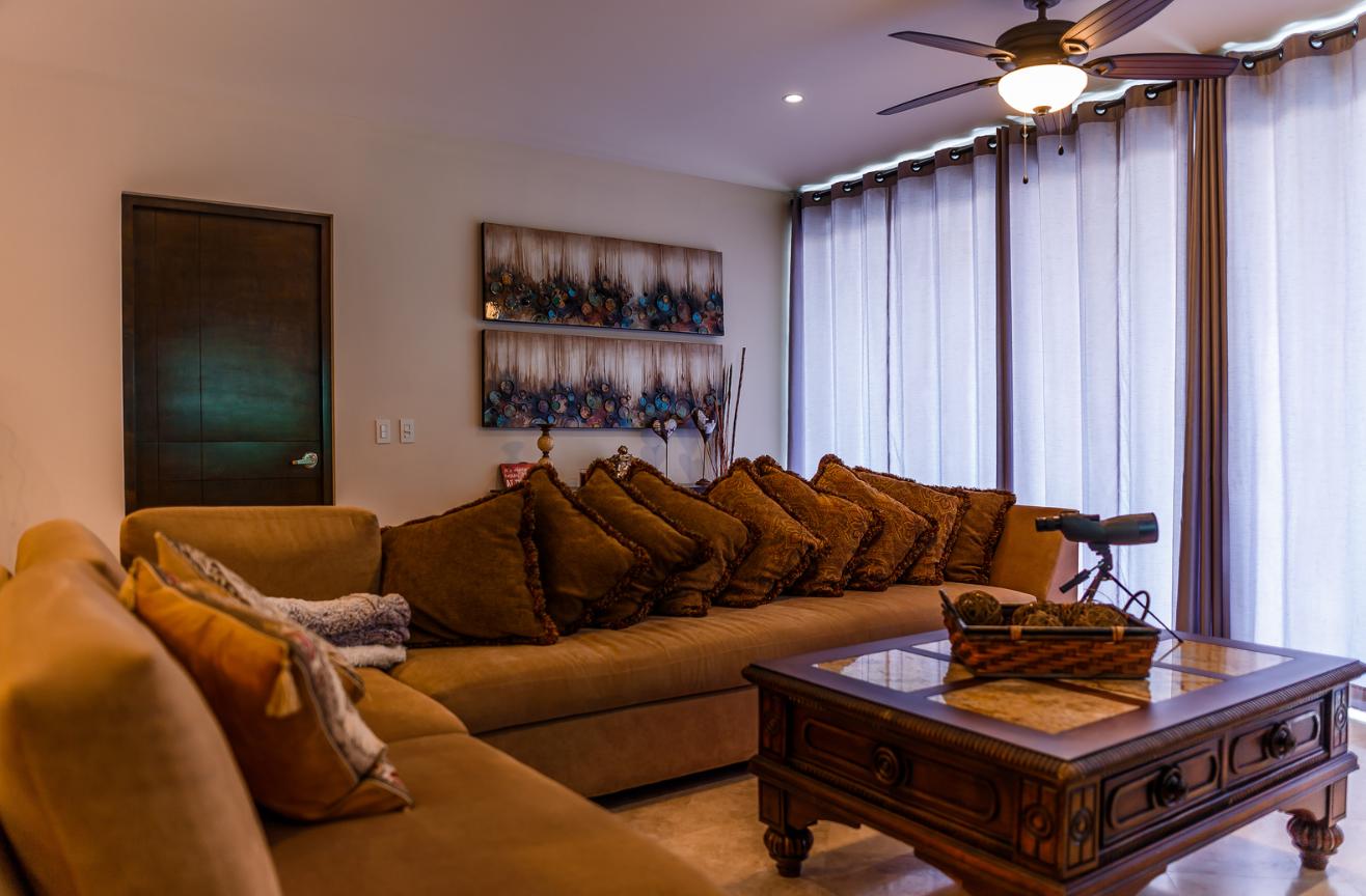 Living room at Cascadas De Pedregal Apartment
