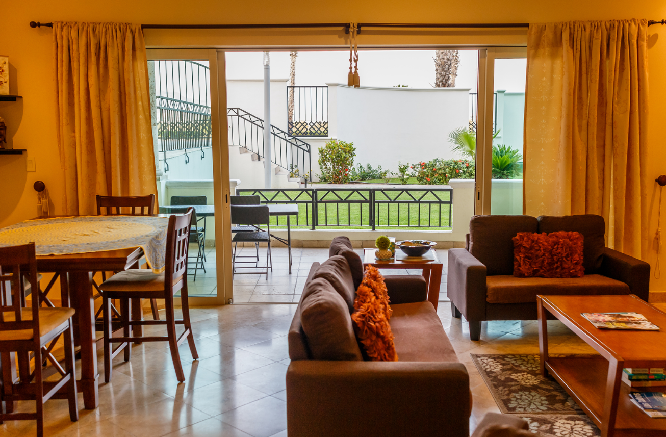 Living area at Puerta Cabos Village Apartment