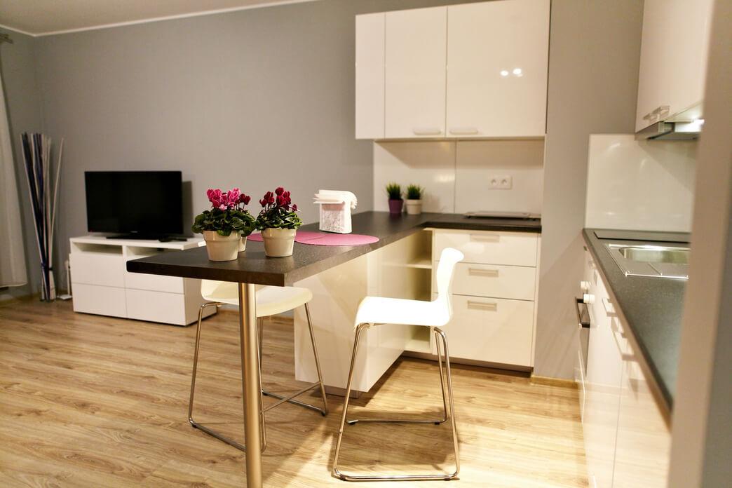 Kitchen at Starowislna Apartments