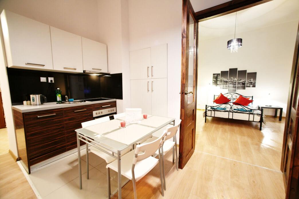 Bedroom at Starowislna Apartments