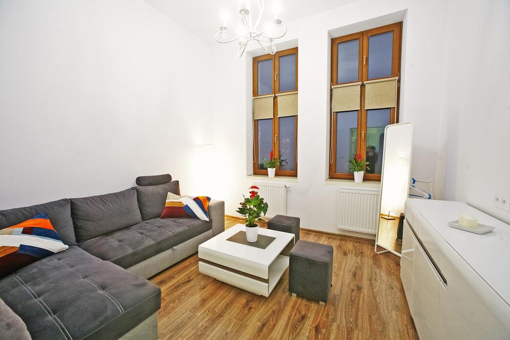 Living room at Starowislna Apartments