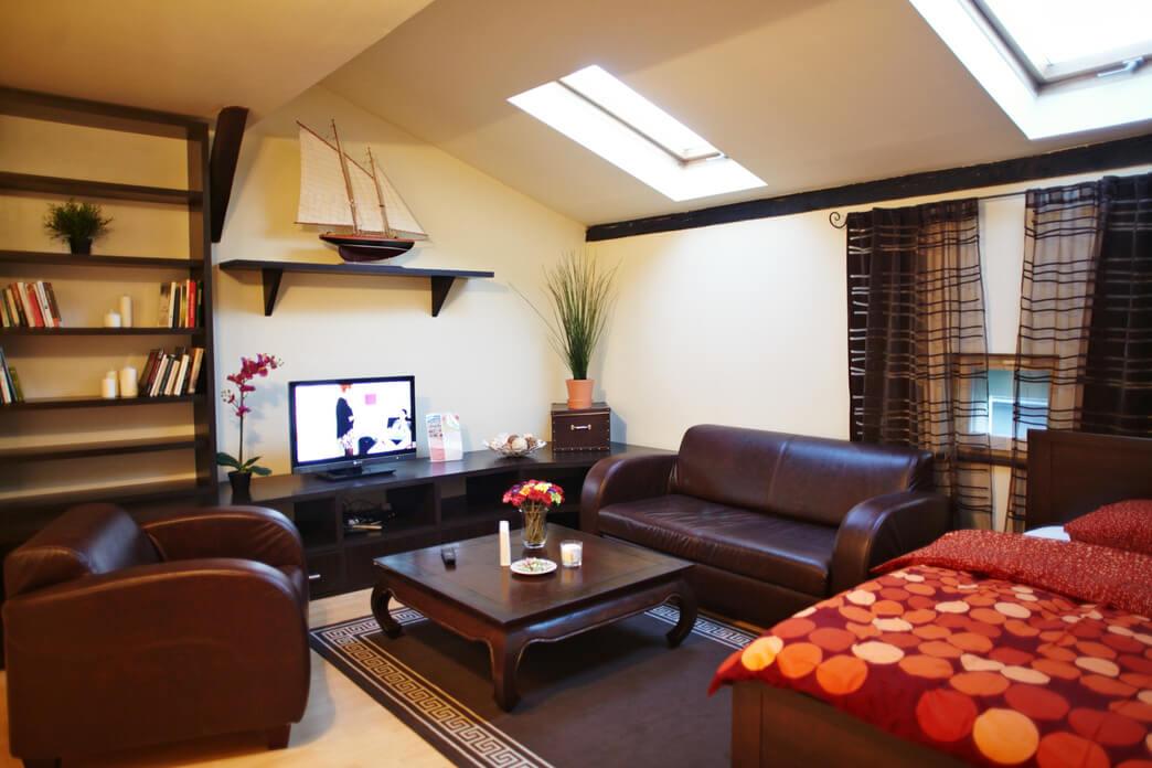 Charming living area at Starowislna Apartments