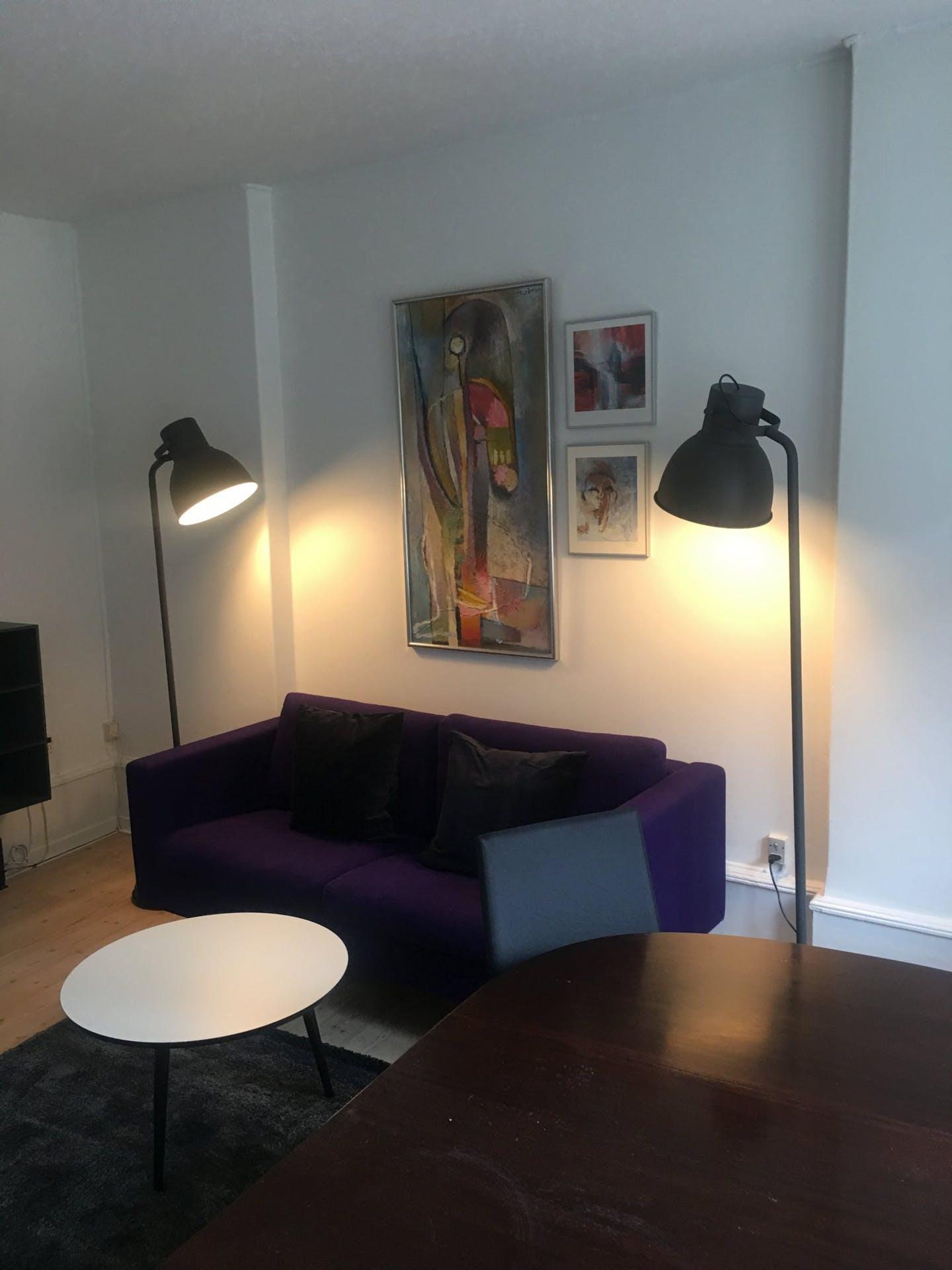 Sofa at Nørrebrogade Apartments, Nørrebro, Copenhagen