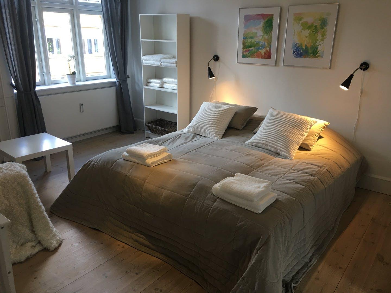 Bed at Nørrebrogade Apartments, Nørrebro, Copenhagen