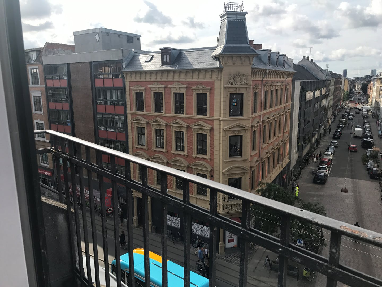 View from Nørrebrogade Apartments, Nørrebro, Copenhagen