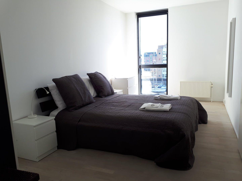 Bedroom at Dampfærgevej Apartment, Centre, Copenhagen
