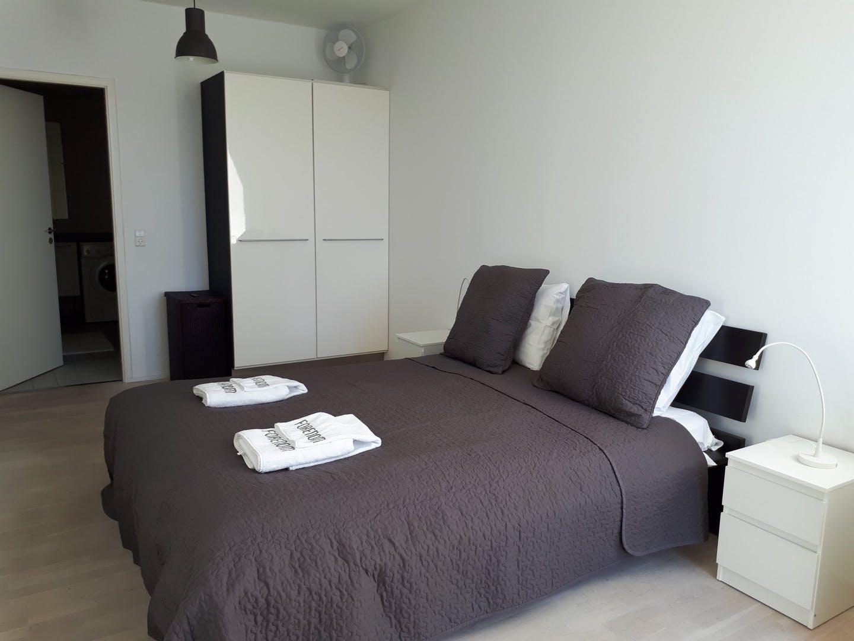 Bed at Dampfærgevej Apartment, Centre, Copenhagen