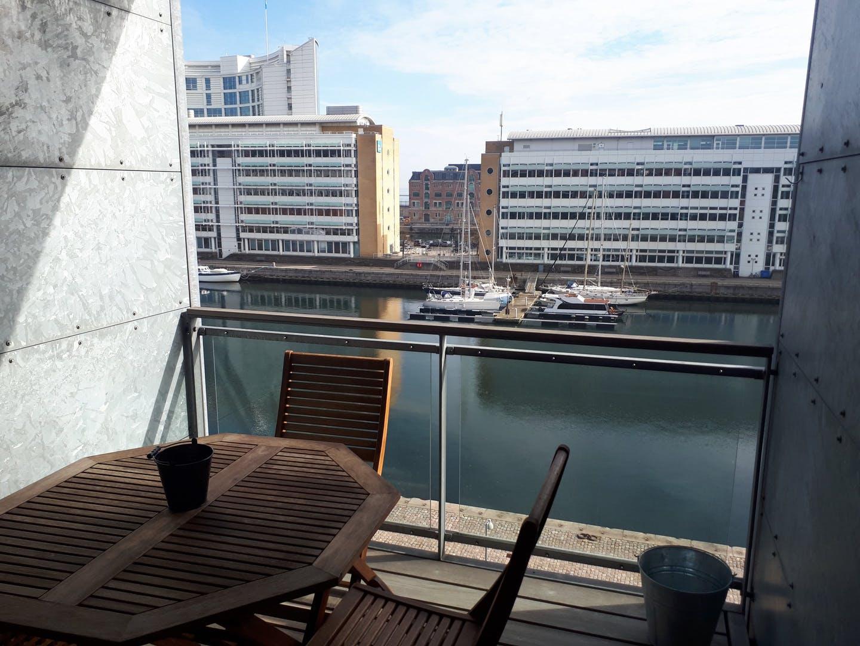 Balcony at Dampfærgevej Apartment, Centre, Copenhagen
