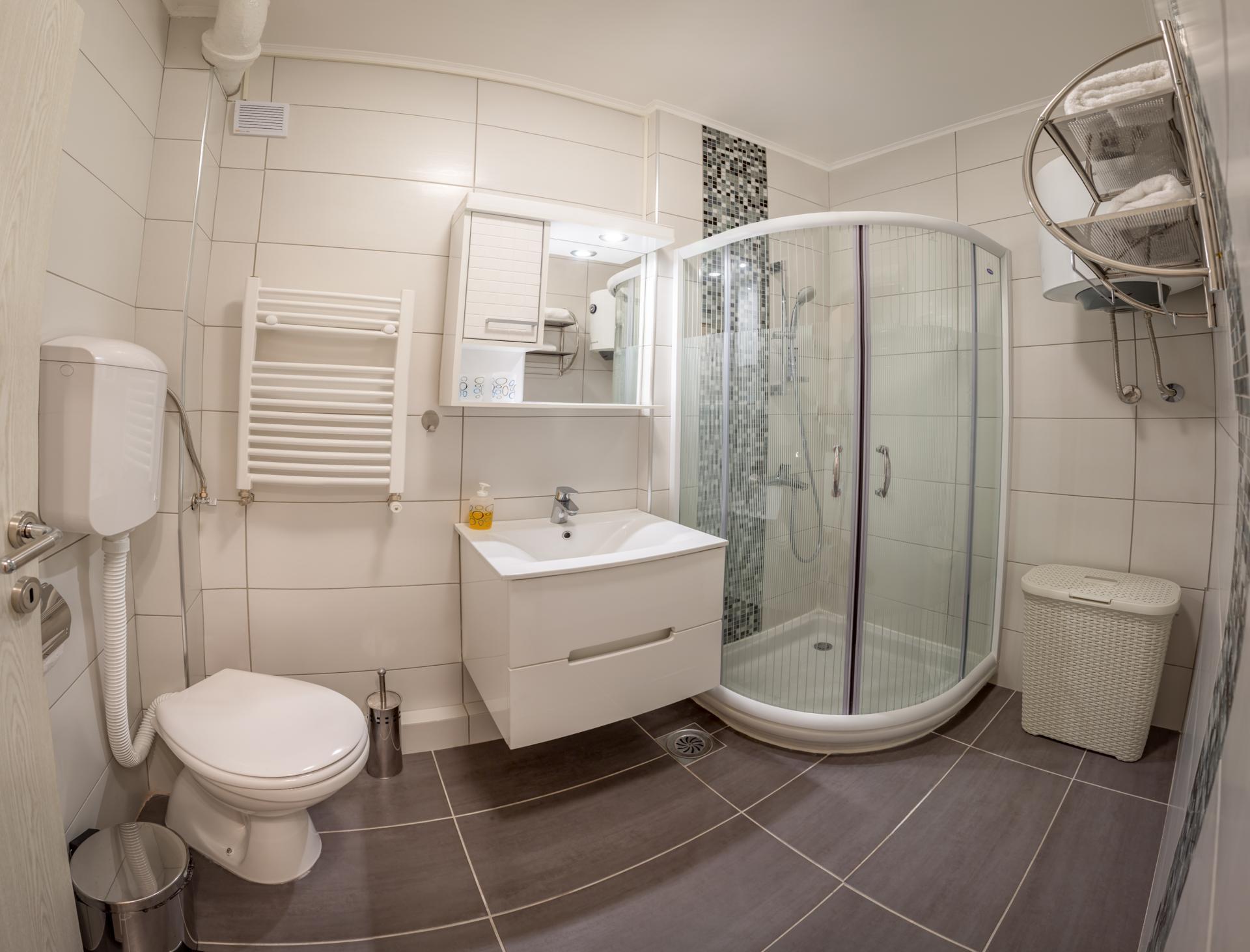 Bathroom at Dositejeva Apartment, Dorćol, Belgrade