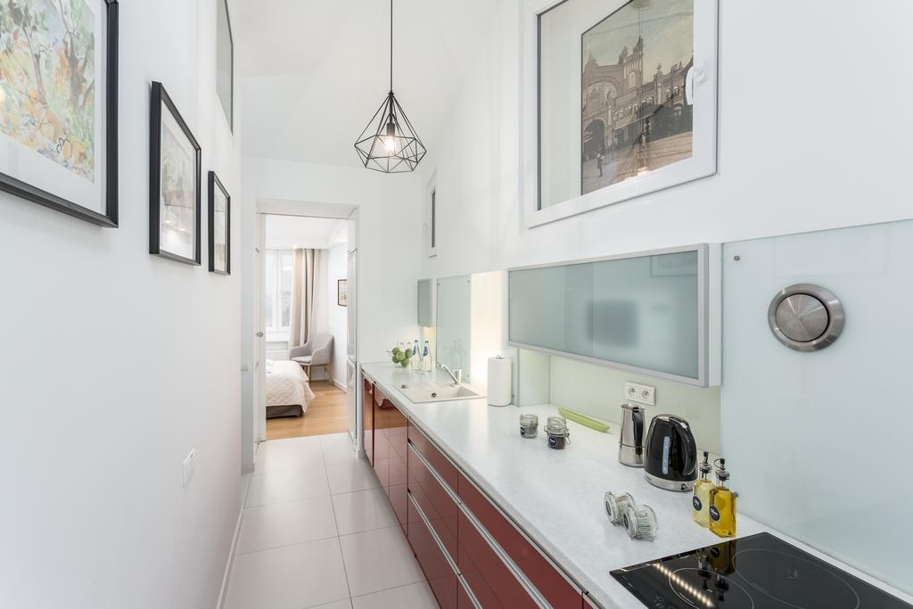 Kitchen at Mirowski Square Apartment