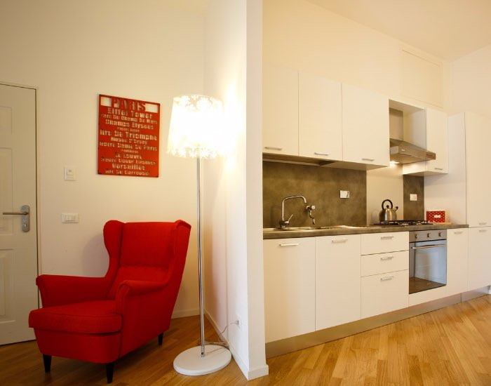 Kitchen facilities at Little De Fiori Apartments