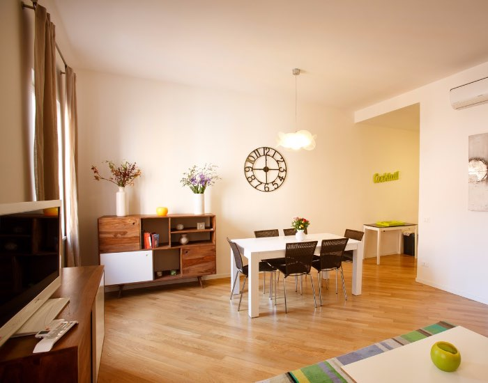 Wooden floor at Little De Fiori Apartments