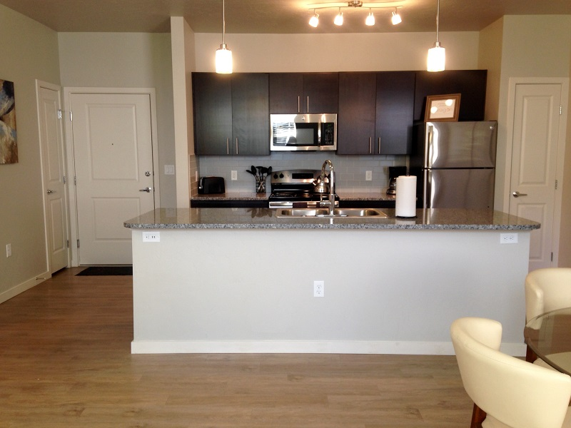 Kitchen at The District Apartments