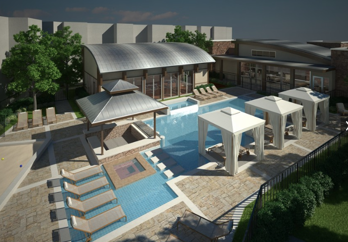 Pool at The District Apartments