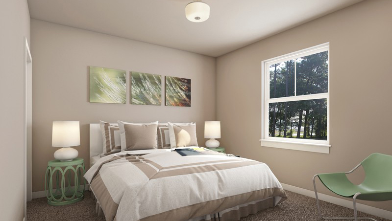 Bedroom at The District Apartments