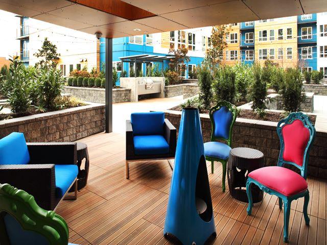 Terrace at Ava Ballard Apartment