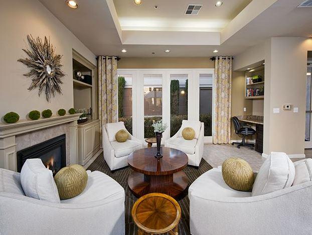 Residents lounge at Avalon Walnut Creek Apartment
